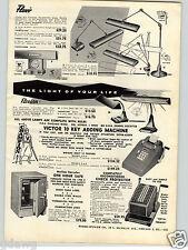 1957 PAPER AD Flexo Flexarm Fluorescent Lamp Adjustable Office Draftsman Industr