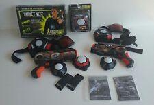 WowWee Light Strike Assault Laser Tag Lot ~ 2 Guns & Targets