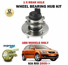 FOR KIA RIO 1.4 1.5TD 1.6 2005-> NEW REAR WHEEL BEARING HUB KIT WITH ABS MODELS