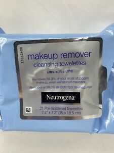 NEUTROGENA Makeup Remover Ultra Soft Facial Cleansing Towelettes Wipes  21 ct