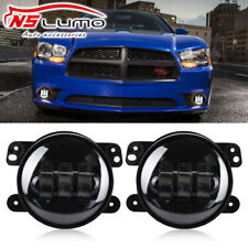 4 Inch Round Cree Led Fog Lights Halo Driving For Dodge Charger 2011 2012 2013