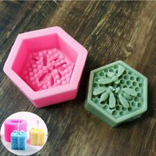 3DMould Cake Gift Soap Bee DIY Honeycomb Silicone Merry Candle Mold Christmas