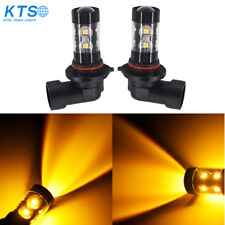 2X 50W 9006 HB4 High Power 3000K Amber Orange For CREE LED Fog Lights Bulbs  US