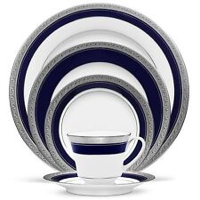 Noritake China Crestwood Cobalt Platinum 60Pc China Set, Service for 12