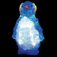 LED 22cm Battery Light up Acrylic Christmas Decoration - Penguin