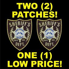 TWO (2) WALKING DEAD SHERIFF PATCH SCREEN ACCURATE KING ZOMBIE COSTUME PROP RARE