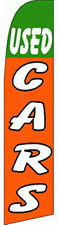 Used Cars Gr Orange Car Lot Swooper Banner Feather Flutter Tall Curved Top Flag