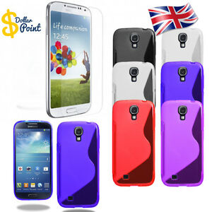 Silicone Gel SLine Case For Samsung Galaxy s4  + free Tempered glass protection