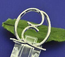 Diamond Ring 2.70 Gram Right Hand Ring 0.20 ct 14k White Gold Ladies Natural