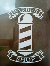 12 inch barber pole shop signs window mirrors doors salon barbers vinyl sticker