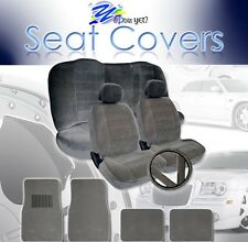 2000 ~ 2007 For Toyota Camry Seat Covers and Floor Mats Set Grey