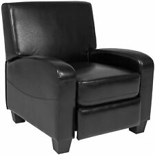 Padded Upholstery Leather Home Theater Recliner Chair (Black)