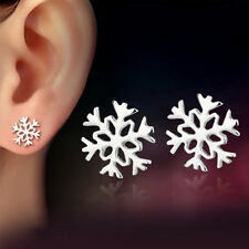 Jewelry earrings snow flake earrings white diamond