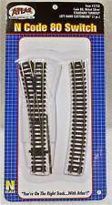 Atlas N Code 80 Nickel Silver STANDARD TURNOUT LEFT HAND CUSTOMLINE #2750 (1pc.)