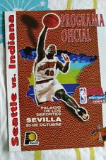 NBA Europe tour official program 1996 Seattle Supersonics Indiana Pacers