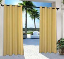 "Exclusive Home Indoor/Outdoor Cabana Sundress Yellow 96"" Pair Curtain Panel"