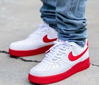 Nike Air Force 1 Low Sneakers Men's Lifestyle Comfy Shoes White/University Red