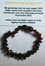 JOB LOT 100% BALTIC AMBER CHERRY BRACELETS x 5