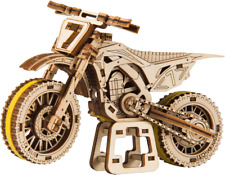 WOODEN CITY® MotoCross, Holzmodellbausatz, 3D Holzpuzzle, Motorrad, Motorbike