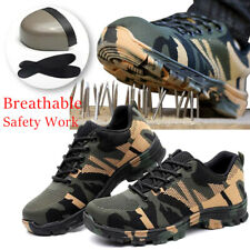Men's Indestructible BulletProof Breathable Shoes Steel Toe Safety work Boots