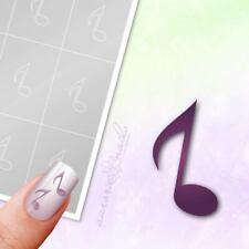 Schablonen für Airbrush und Nailart M362 Musik Notenschlüssel Noten Note 80x