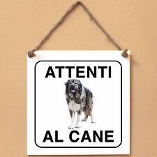 Cane da pastore del Caucaso 1 Attenti al cane Targa piastrella cartello