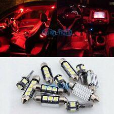 Interior Red Canbus LED Light Package 19X Kit For Audi B5 B6 B7 A4 S4 S2 Sedan