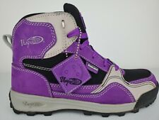 Vasque Backpacking Hiking Boots Hiking Size 6.5 M Suede Purple/Grey Excellent