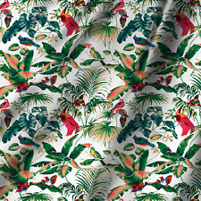 Solid Bird & Leafs Print Sewing Quilting Pure Cotton Fabric Dress By Yard 44Inch