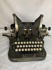 Antique Oliver The Printype Batwing Typewriter No. 5 Standard Visible Writer