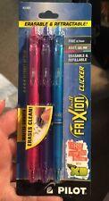 Pilot 31469 Frixion Clicker Erasable pen Pink/Purple/Turquoise 3 Set