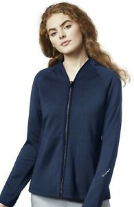 Wonder Wink style 8209 Soft V-Neck Zip Front Scrub Jacket in Navy Size XS