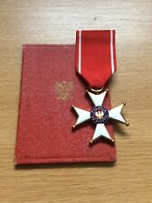 More details for  poland polish polonia restituta 1944, v class with award document dated 1970