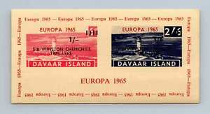 Davaar Island 1965 Europa Optd Sir Winston Churchill 1965 Imperf MNH M/S #M723