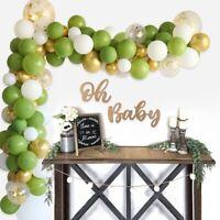 121pcs Green Balloon Garland Arch Kit Baby Shower Birthday Party Wedding Decor
