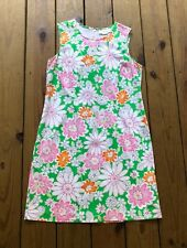 Chadwick's women's size 12 green pink white floral fitted sleeveless dress
