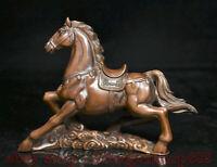 "6 ""buis chinois bois Feng Shui 12 zodiaque année cheval animal succès Statue"