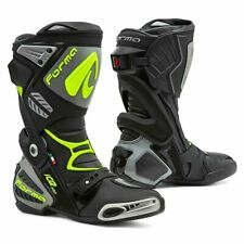 motorcycle boots   Forma Ice Pro racing black grey track road race tech smx