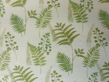 Prestigieux manille evergreen crème green leaf print retro coton rideau tissu