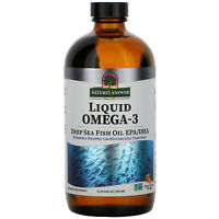 Nature s Answer  Liquid Omega-3  Deep Sea Fish Oil EPA DHA  Orange Flavor  16 fl