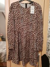 Zara Animal Print Skater Dress Size L/14