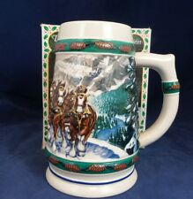 1993 Budweiser Christmas Special Delivery By Nora Koerber Holiday Beer Stein