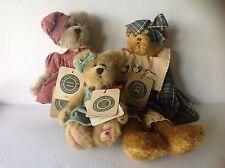 Lot of three Boyds Bear Philomena, Sarah, Robin with tags