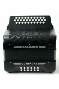 New Hohner Compadre 3 Row Accordion  B/C/Csharp