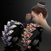 Women Charm Hair Clip Crystal Claw Ponytail Bun Hair Comb Hairpin Accessories