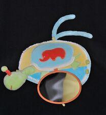 Peluche doudou escargot KALOO bleu vert éléphant miroir grelot fleur TTBE