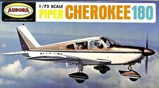 Aurora 1:72 Piper Cherokee 180 Plastic Aircraft Model Kit ca 1968 #281U