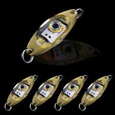 5pcs Flash LED Fishing Lures Eye Shape Squid Light Underwater Deep Sea Drop Lamp