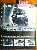 Yamaha 2002 Snowmobile Technical Update Manual Power Launch Canada Version 02