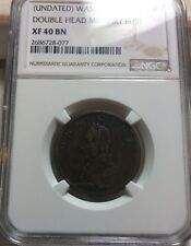 WASHINGTON CENT UNDATED  DOUBLE HEAD MILITARY BUST NGC XF 40